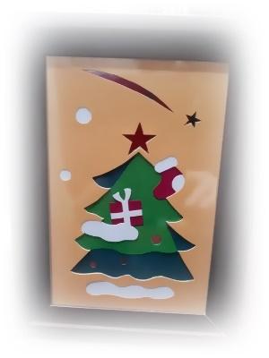 クリスマス彫紙アート体験用