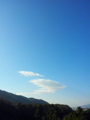 吹き出しのような雲