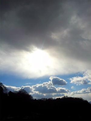 雪の予感の雲