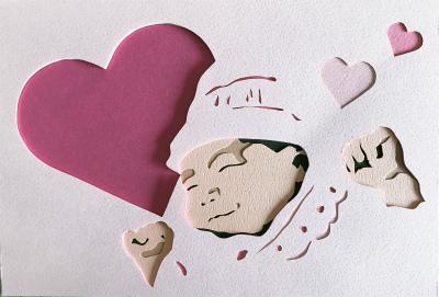 彫紙アートの作り方!写真から下絵を作り出産祝いのカードを作ります!
